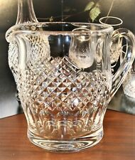 "Waterford Crystal Jug Pitcher 'COLLEEN' Plain Base 6""- 1 1/2 PINT 602/137"