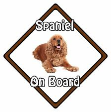 Non Personalised Dog On Board Car Safety Sign – Cocker Spaniel On Board