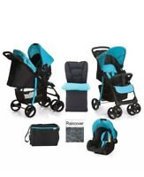 NEW Hauck Shopper SLX Pushchair Pram Travel System shop n drive set Black/Aqua