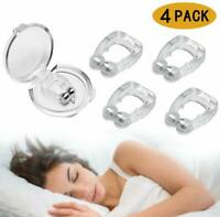 Silicone Magnetic Anti Snore Clip Stop Snoring Nose Clip Sleep Sleeping Aid 4PCS