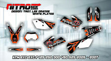 KTM EXC EXC-F 125 250 300 450 525 2005-2007 Graphics Kit Decal Design Stickers
