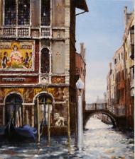 "NEW ORIGINAL HUGH BEATTIE OIL ""Palazzo Salviati"" italian italy Venice PAINTING"