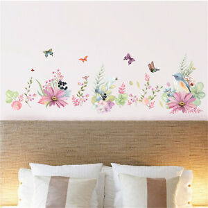 Flowers Bird Butterfly Home Room Decor Removable Wall Stickers Decal Decoration*