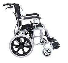 NEW Foldable Lightweight Manual Transport Medical Wheelchair (Black) 24lb