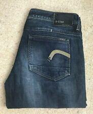 Womens G Star New Reese Loose Indigo Blue Denim Jeans W 31 L 34