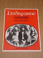 Genesis 1972 UK Tour Programme (Lindisfarne/Rab Noakes)