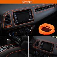 5M Orange Car Auto Interior Styling Moulding Trim Strip DIY Decorative Line Deco