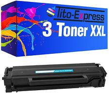 3x toner-Cartouche xxl proserie pour samsung xpress m2026 m2026w m2070f mlt-d111s