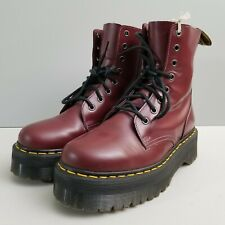 Doc Martens Jadon Platform 8-Eye Boot Red Leather Womens Size 10 US 42 EU