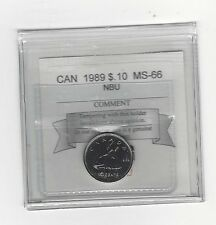 **1989** Coin Mart Graded Canadian,  10  Cent, **MS-66 NBU**