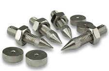 More details for 4 x speaker spikes and feet m8 thread 42mm nickle plated silver finish