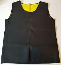 Cimkiz Men's Sauna Vest Neoprene Sweat Weight Loss Black Vest Size XXXL NWOT