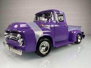 Ertl 1956 Ford F-100 Stepside Street Rod Pickup Truck 1:18 Purple Diecast Car