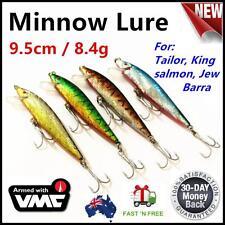 4X Minnow Shallow Dive Lure Casting Trolling Flathead Tailor Salmon Jew No.318