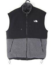 The North Face Gray Black Denali Fleece Vest Mens Sz L Jacket Full Zip Polartec