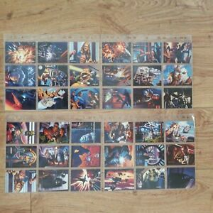 1996 Star Wars Shadows Of The Empire Lot set Of 36  Number 1 to 36  1996 Topps