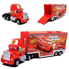 Pixar Disney The Cars No.95 Mcqueen Mack Hauler Trailer Truck Metal Toy 19CM