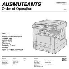 AUSMUTEANTS ORDER OF OPERATION GONER RECORDS LP VINYLE NEUF