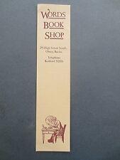 Vintage BOOKMARK Bookshop Words South OLNEY High Street Buckinghamshire Writer