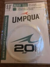 Umpqua Fly Fishing Big Game Fluorocarbon  Pre Looped Leader 9 Feet 20lb