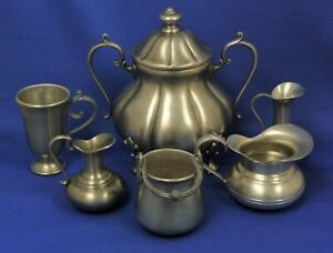 Vintage Pewter Collection Various Makers Marks