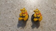 Lot of 2 Pooh Bear shoe charms for Crocs shoes. Other use Craft, Scrapbook