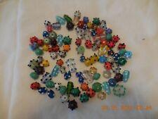 94 Lampwork Glass Hand Blown Bumpy Art Bead Mix Round Oblong Various Colors