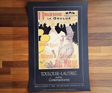 Moulin Rouge Toulouse Lautrec Baltimore Museum of Art Poster 1986