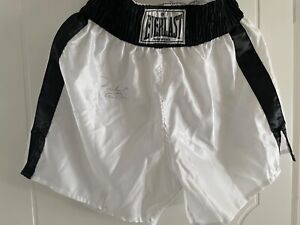 extremely rare Everlast boxing trunks signed by Muhammad Ali Cassius Clay - 1998