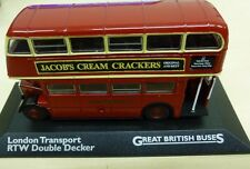 Great British Buses London Transport RTW Double Decker 1:76 scale model bus red