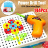 1 Set Kids Electric Drill Power Tool DIY Construction Toys Education Gifts Set