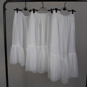 femmes dentelle maille transparent Jupe ébouriffé demi à enfiler Jupon robe
