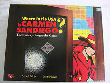 WHERE IN THE USA IS CARMEN SANDIEGO? eductional board game, 1993  Ages 8+
