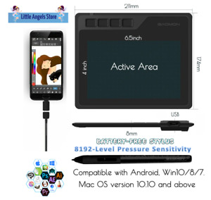 """🌟 GAOMON S620 6.5""""x4"""" Graphics Tablet with 8192-level Pen for Android/Win/Mac"""