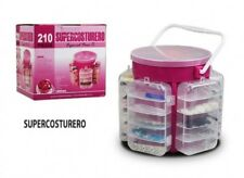 210 Pc Deluxe Sewing Kit Set With Storage Caddy Box