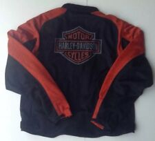 Harley Davidson Orange Black Mesh Motorcycle Breathable Riding Jacket 3XL XXXL