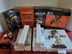 San Francisco Giants Bobblehead Lot Of 4 Bumgarner,Lincecum,Crawford And Krukow