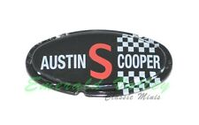 Classic Mini New Plastic Mk2 Austin Cooper S bonnet badge Insert