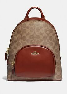 Coach Carrie Backpack 23 In Signature Canvas