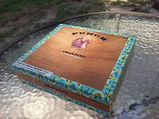 Wooden Cigar Box Punch Gran Puro Nicaragua Joker And Dog Emblem