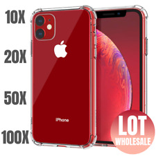 100X Wholesale Bulk Lot Shockproof Clear Case For iPhone 11 Pro Xs MAX 8 7 Plus