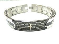 "Stainless Steel PADRE NUESTRO  Men's Bracelet ""Brand NEW"""