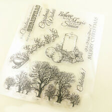 1 Sheet Silicone Transparent Stamp Seal Merry Christmas Scrapbooking DD04(2)