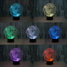 LED Night Light America Map 3D Illusion Optical Gradient Colorful Desk Lamp Gift