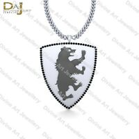 Black Diamond GOT House Mormont Necklace Game Of Thrones House Bear Pendant