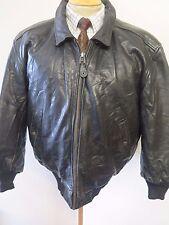 """Vintage Genuine Levi's Leather Flight Bomber Jacket M 38-40"""" Euro 48-50 + Liner"""