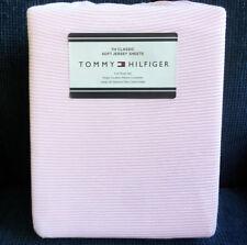 Tommy Hilfiger 4pc FULL JERSEY KNIT SHEET SET ithaca PINK WHITE STRIPE xdp fit