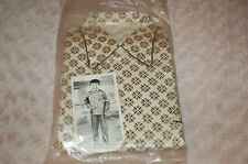 Pyjama vintage Garçon 10 ans beige à motifs ,coton viscose