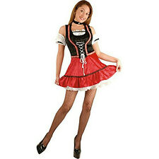 Adult Sexy Black and Red Bavarian Beer Garden Girl Costume Size Large 11-13