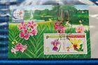 2X Singapore Orchid Series Vanda Miss Joaquim & Dendrobium Anocha Minature Sheet